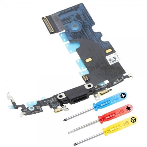 Dock Connector für iPhone 8 Plus (SPACE GREY/SCHWARZ) Ladebuchse + Werkzeug