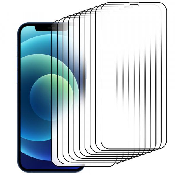 MMOBIEL 10 stuks Glazen Screenprotector voor iPhone 12 / 12 Pro - 6.1 inch 2020 - Tempered Gehard Glas - Inclusief Cleaning Set