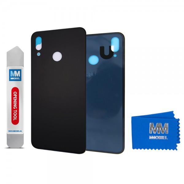 Akkudeckel mit Linse für Huawei P20 Lite 2018 (SCHWARZ) Backcover