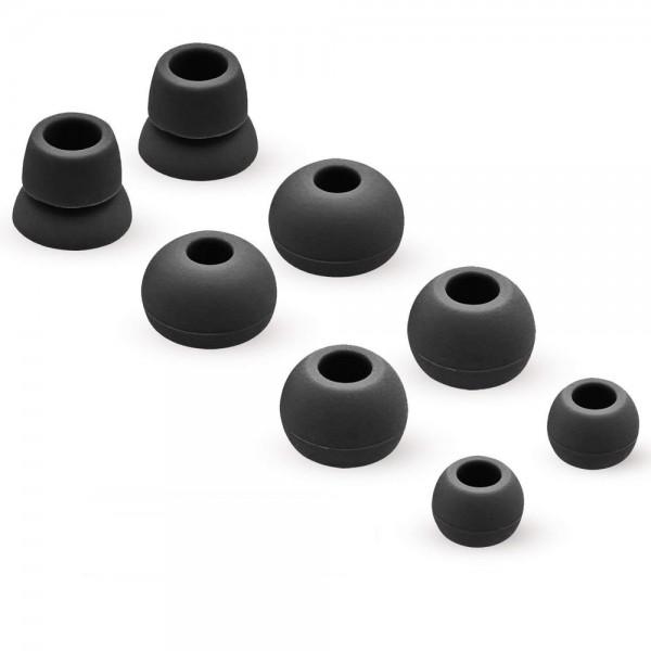 Silikon Ohrstöpsel Earbuds Set für Powerbeats 2 / 3 Wireless (SCHWARZ)