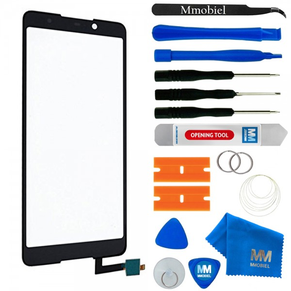 Digitizer Touchscreen Display für Wiko Lenny 5 (SCHWARZ) Front Glas inkl. Tools