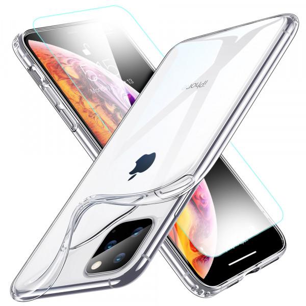 MMOBIEL Screenprotector en Siliconen TPU Beschermhoes voor iPhone 11 Pro - 5.8 inch 2019
