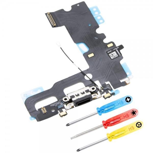 MMOBIEL Dock Connector voor iPhone 7 Plus (SPACE GREY / ZWART)