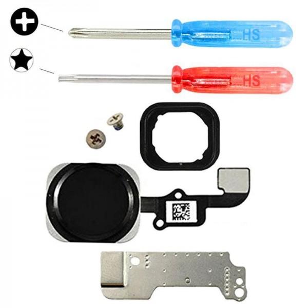 MMOBIEL Home Button voor iPhone 6 / 6 Plus (ZWART) - inclusief Reparatie Tools