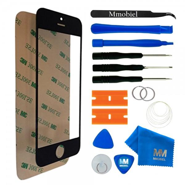 Front Glas Reparatur Set für iPhone 5/5C/5S/SE (SCHWARZ) Display+Werkzeug
