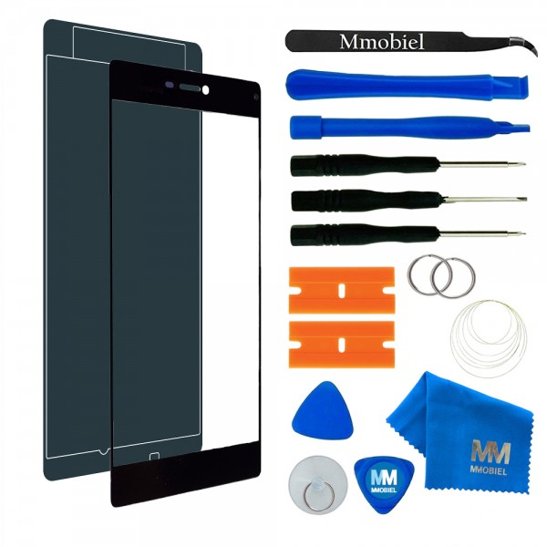 Front Glass for Huawei P8 5.2 Inch (Black) Display Touchscreen incl. Toolkit