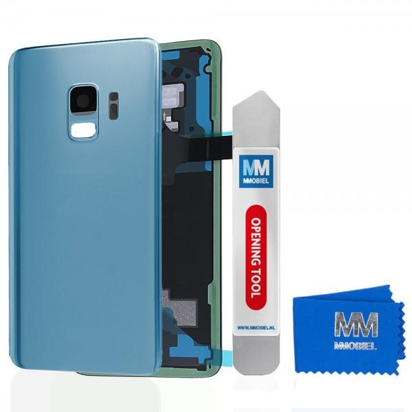 Akkudeckel mit Linse für Samsung Galaxy S9 G960 (BLAU) Backcover