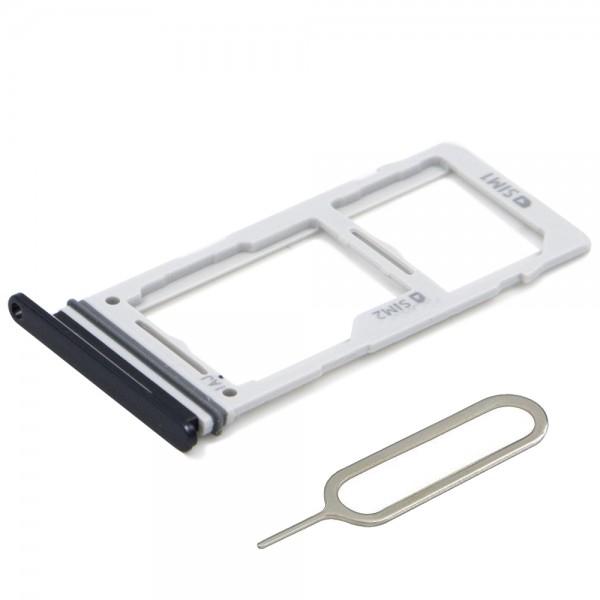 Dual SIM Karte Tray Schlitten für Samsung Galaxy S10 / S10 Plus (SCHWARZ)