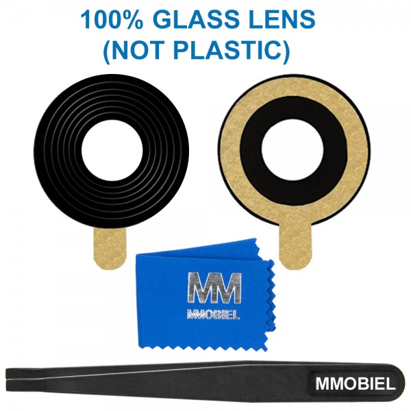 MMOBIEL Glas Lens Back Camera voor Huawei P Smart 2017 (ZWART) - inclusief Pincet en Doekje