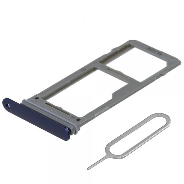 SIM/SD Karte Schlitten Tray für Samsung Galaxy Note 9 (BLAU) inkl. SIM Pin