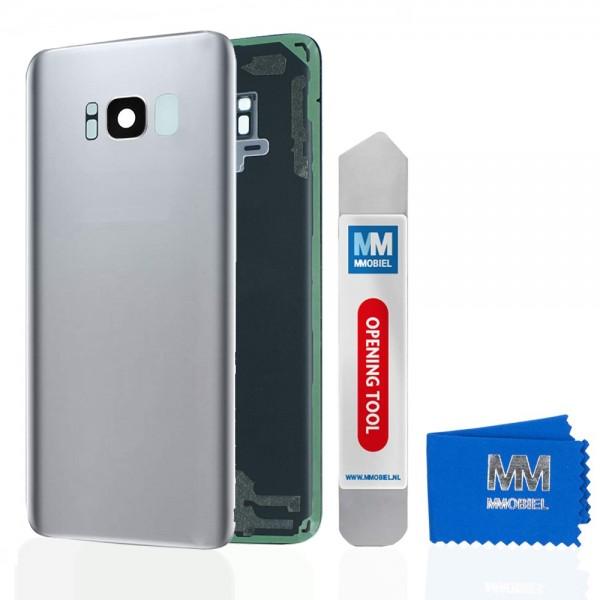 Akkudeckel mit Linse für Samsung Galaxy S8 G950 (SILBER) Backcover