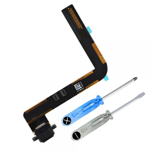 Dock Connector für iPad Air (SCHWARZ) Ladebuchse Ladeport + Werkzeug