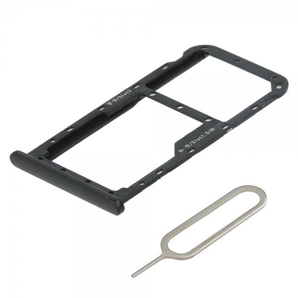 Dual Sim card Tray Slot for Huawei Mate 10 Lite (Graphite Black) incl. Sim Pin