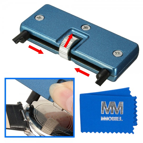 Watch Case Back Opener Adjustable Remover for Battery Replacing and Watch Repair
