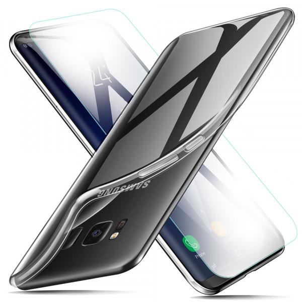 MMOBIEL Screenprotector en Siliconen TPU Beschermhoes voor Samsung Galaxy S8 Plus - 6.2 inch 2017