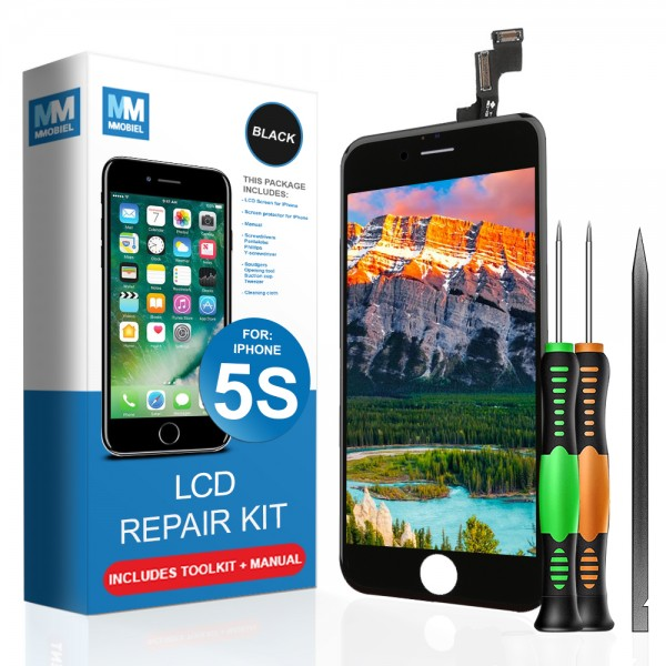 LCD Display Touch Screen Digitizer Ersatz für iPhone 5S Schwarz Reparatur Set