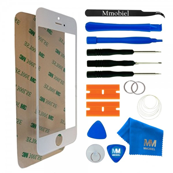 Front Glass for iPhone 5 5C 5S SE (White) Display incl. Toolkit