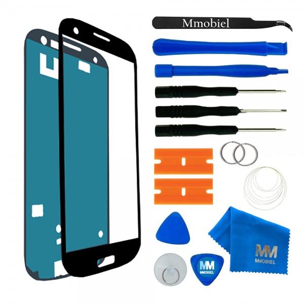 Front Glas für Samsung Galaxy S3/S3 Neo (SCHWARZ) Display Scheibe + Werkzeug
