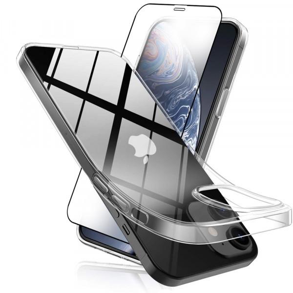 MMOBIEL Screenprotector en Siliconen TPU Beschermhoes voor iPhone 12 Mini - 5.4 inch