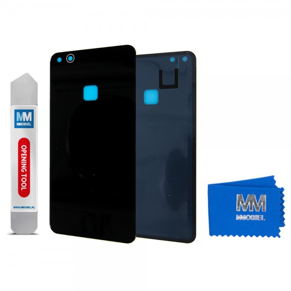 Akkudeckel mit Linse für Huawei P10 Lite 2017 (SCHWARZ) Backcover