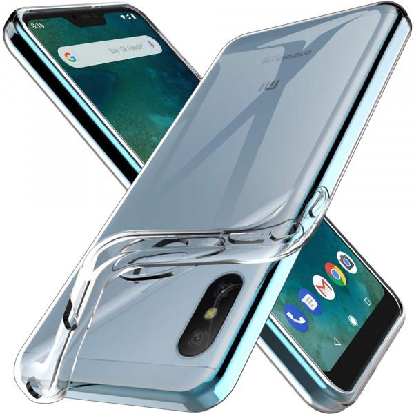 TPU Silikonhülle + Displayschutzfolie gehärtetem Glas für Xiaomi Mi A2 Lite