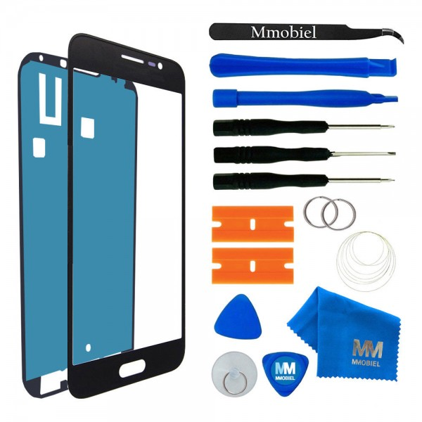 Front Glass for Samsung Galaxy J3 J320 (Black) Display Touchscreen incl. Toolkit