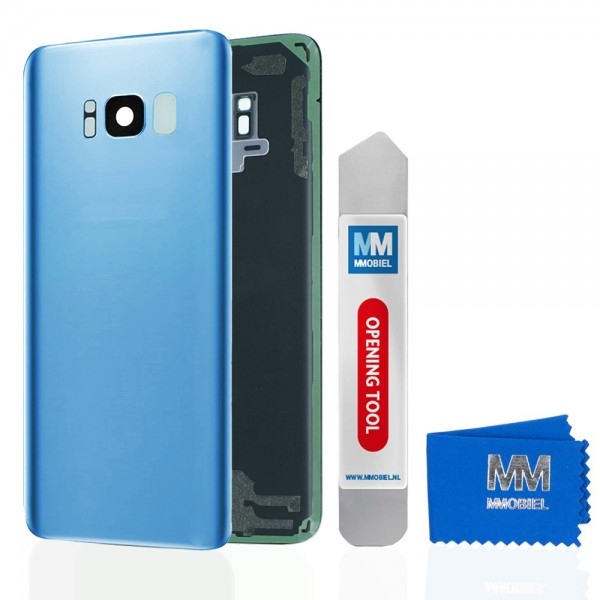 MMOBIEL Back Cover incl. Lens voor Samsung Galaxy S8 G950 (BLAUW)