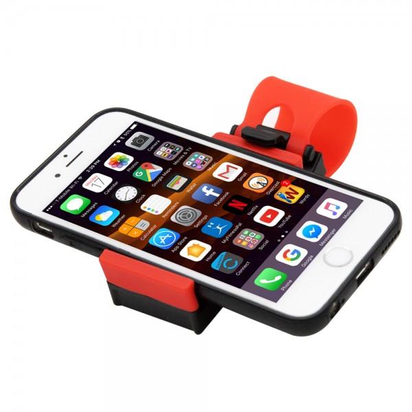 MMOBIEL Universele Mobiele Telefoon Auto Houder voor aan het Stuur (ROOD/ZWART)