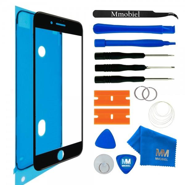 Front Glas Reparatur Set für iPhone 8 Plus (SPACE GRAY/SCHWARZ) Display+Werkzeug