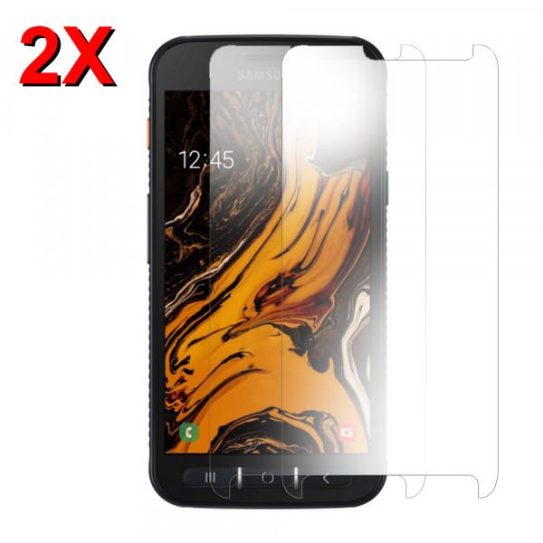 MMOBIEL 2 stuks Glazen Screenprotector voor Samsung Galaxy X Cover 4S - 5.0 inch 2019 - Tempered Gehard Glas - Inclusief Cleaning Set