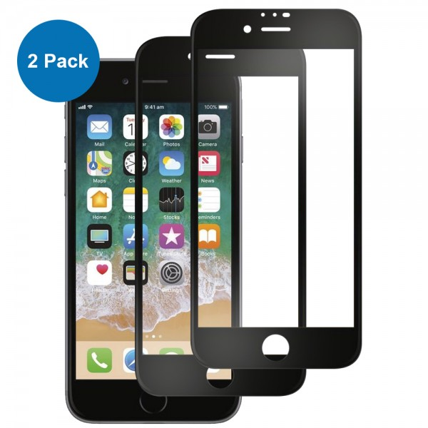 MMOBIEL 2 stuks Glazen Screenprotector voor iPhone SE (2020) / 8 / 7 / 6S / 6 - 4.7 inch - Tempered Gehard Glas - Inclusief Cleaning Set