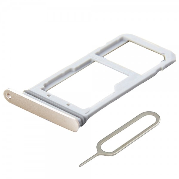SIM - SD card Tray for Samsung Galaxy S7 G930 - (Gold) incl. Sim Pin