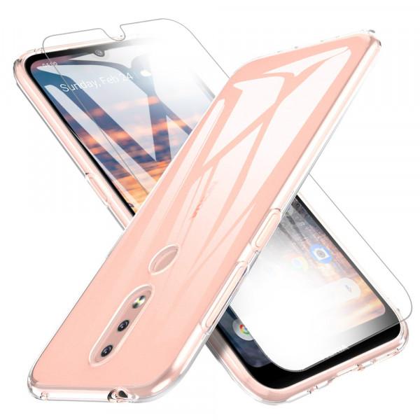 MMOBIEL Screenprotector en Siliconen TPU Beschermhoes voor Nokia 4.2 - 5.71 inch 2019