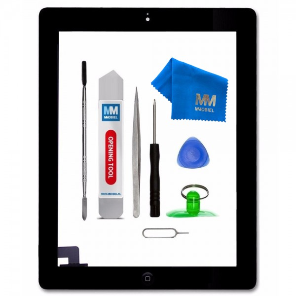 Digitizer for iPad 2 (Black) Touchscreen Front Display incl. Toolkit