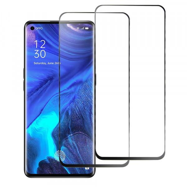 MMOBIEL 2 stuks Glazen Screenprotector voor Oppo Reno4 5G / 4G 6.4 inch 2020 - Tempered Gehard Glas - Inclusief Cleaning Set