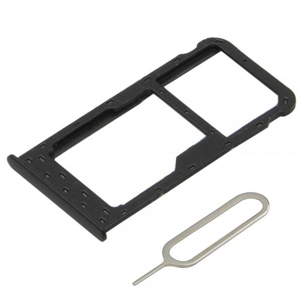Dual Sim card Tray Slot for Huawei P Smart 2017 incl. Sim Pin (Black)