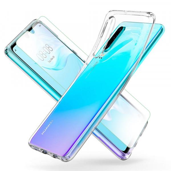 MMOBIEL Screenprotector en Siliconen TPU Beschermhoes voor Huawei P30 Lite - 6.1 inch 2019