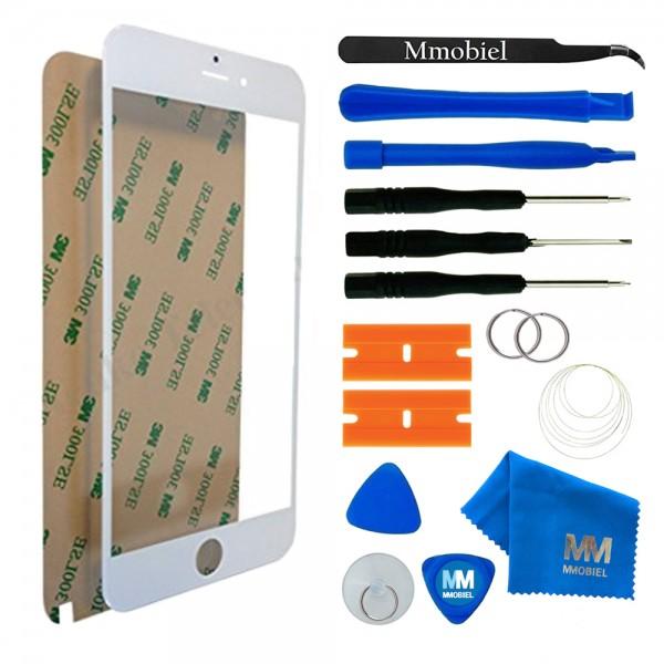 Front Glas für iPhone 6 Plus/6S Plus (WEISS) Display Scheibe + Werkzeug