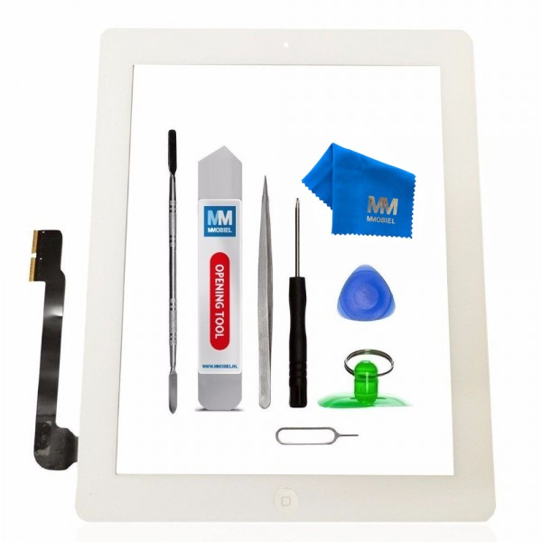Digitizer for iPad 3 (White) Touchscreen Front Display incl. Toolkit