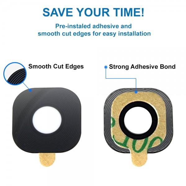 MMOBIEL Glas Lens Back Camera voor Samsung Galaxy Xcover 4 G390 (ZWART) - inclusief Pincet en Doekje