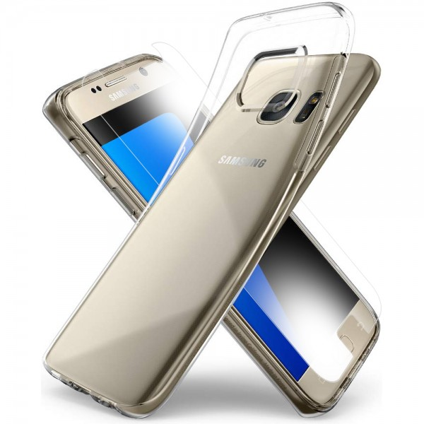 MMOBIEL Screenprotector en Siliconen TPU Beschermhoes voor Samsung Galaxy S7 - 5.1 inch 2016