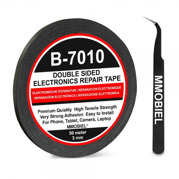 3 mm Double Sided Strong Adhesive Tape 50 m (Black) for Smartphone Tablet repair