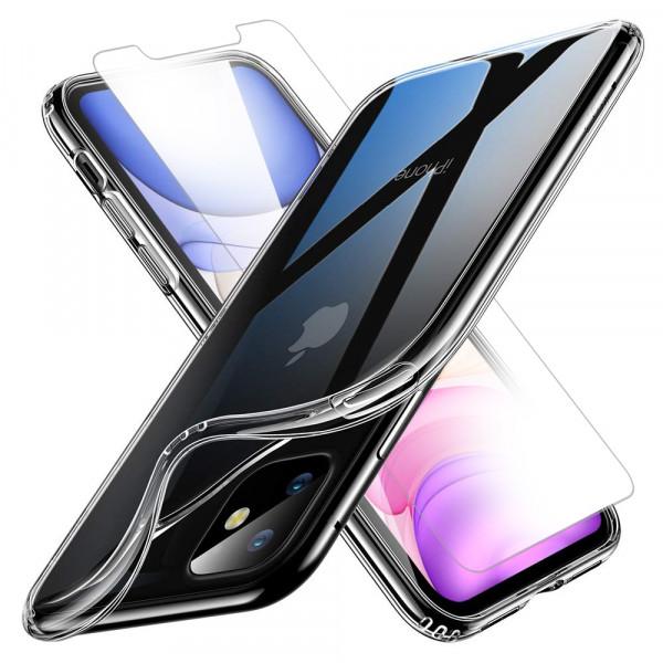MMOBIEL Screenprotector en Siliconen TPU Beschermhoes voor iPhone 11 - 6.1 inch