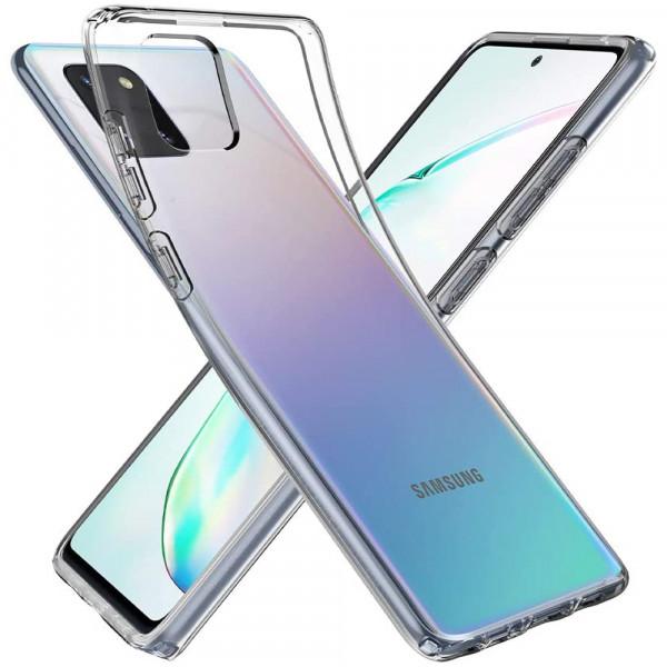 MMOBIEL Panzerglas und Silikon TPU Schutzhülle für Samsung Galaxy Note 10 Lite N770 6.7 inch 2020 - 2 in 1 Schutzset