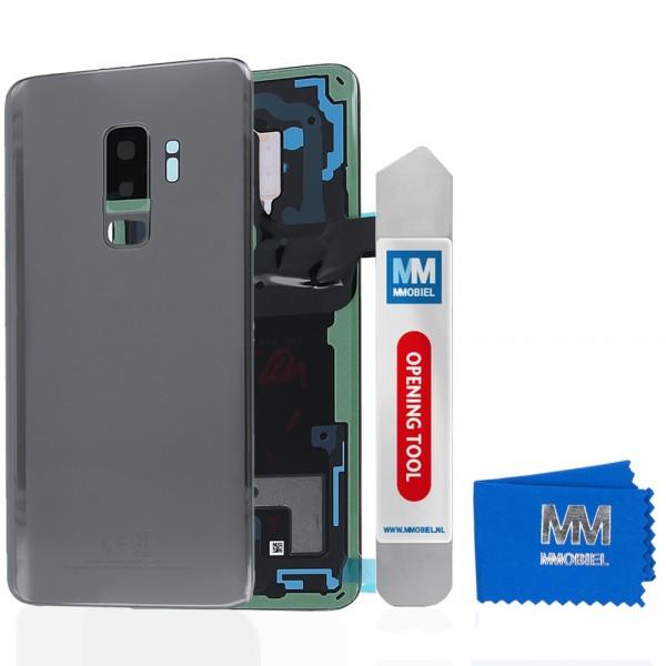 Akkudeckel mit Linse für Samsung Galaxy S9 Plus G965 (GRAU) Backcover