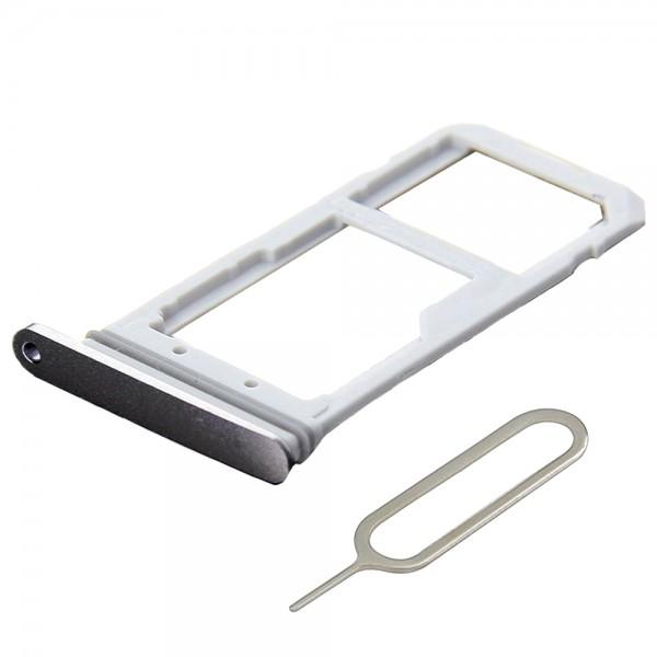 SIM / SD Karte Schlitten Tray für Samsung Galaxy S7 (SCHWARZ) inkl. SIM Pin