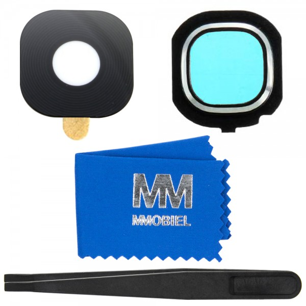 MMOBIEL Glas Lens Back Camera voor Samsung Galaxy J5 J510 /J7 J710 - 2016 (ZWART) - inclusief Pincet en Doekje