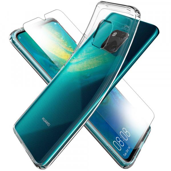 MMOBIEL Screenprotector en Siliconen TPU Beschermhoes voor Huawei Mate 20 - 6.53 inch 2018