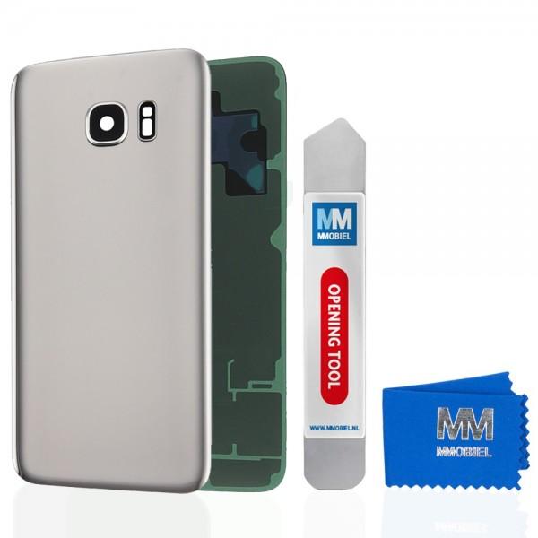 Akkudeckel mit Linse für Samsung Galaxy S7 Edge G935 SILBER Backcover