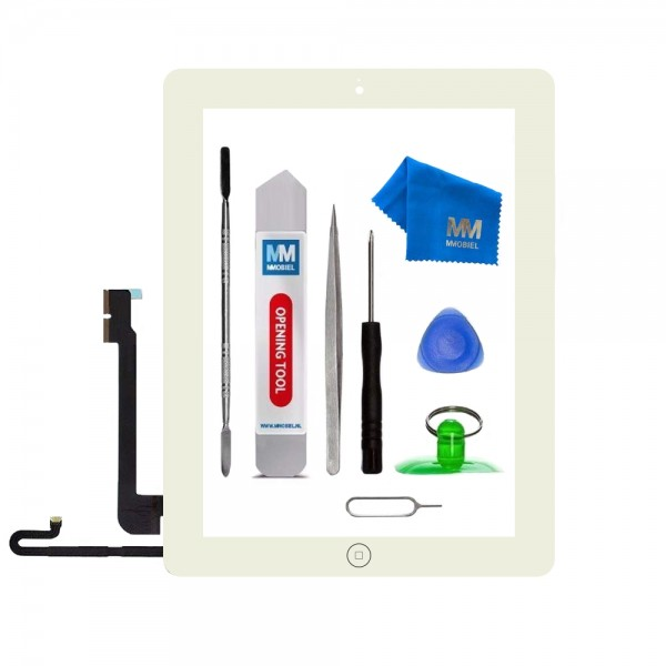 Digitizer for iPad 4 (White) Touchscreen Front Display incl. Toolkit